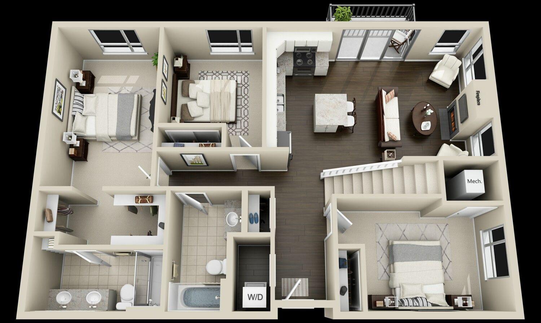 pinterest claudiagabg apartamento 2 pisos 3 cuartos 1 on best tiny house plan design ideas id=58226
