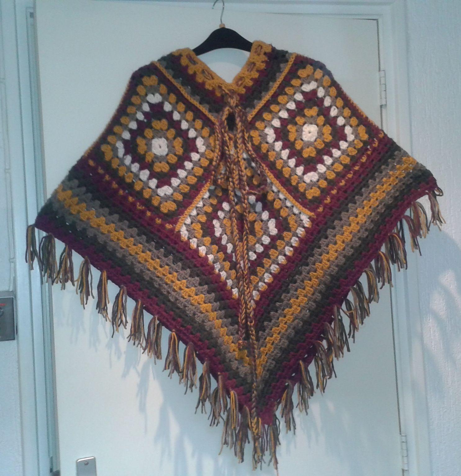 herfst kleuren maat 38 | crafts | Pinterest | Ponchos, Tejidos con ...
