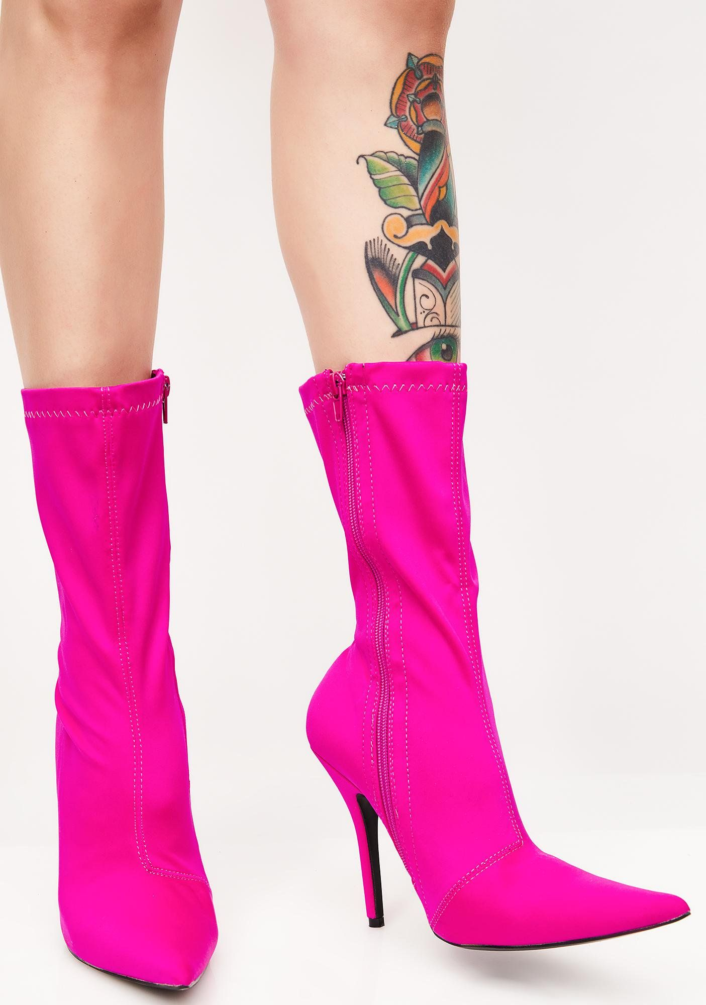 bf6b3dfb6ed7 Public Desire Danger Sock Fit Ankle Boots cuz you take it to the edge. These