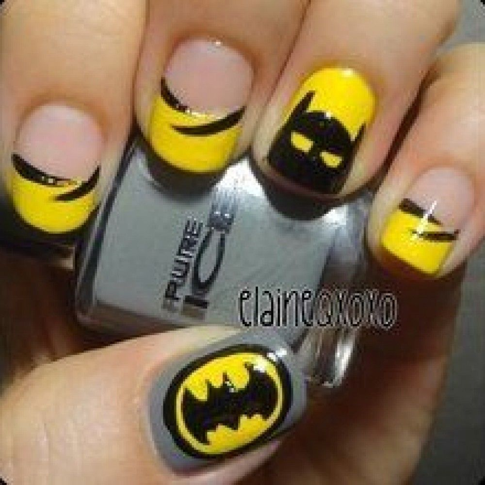 Batman Nails Easy To Do Diy Ideas 18 Pictures Hair And Beauty