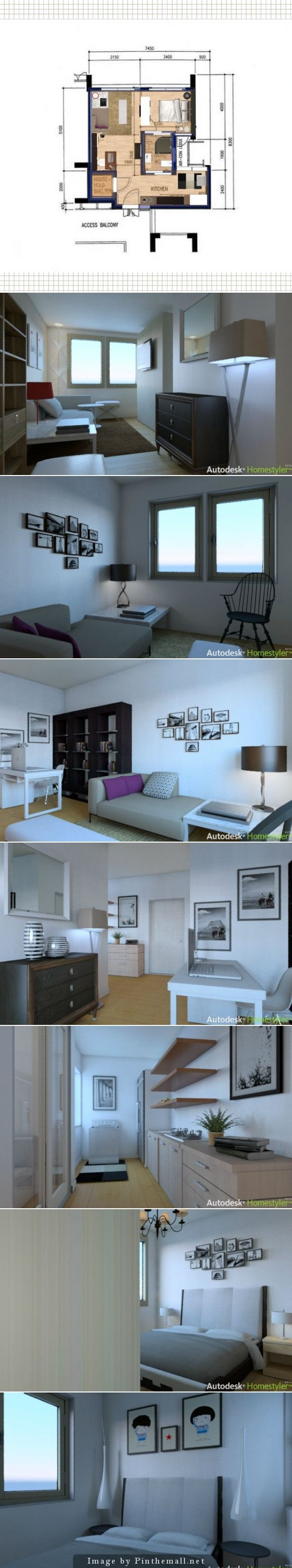 Hdb 2 Room Bto At Sengkang Fernvale Lea Also Design By Ssphere Online Design Magazine Apartment Layout Bedroom House Plans 1 Bedroom House