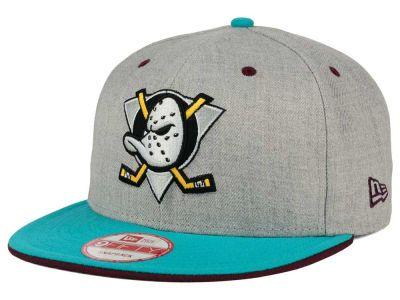 wholesale dealer 14851 5dc02 Anaheim Ducks New Era NHL Heather Team Color 9FIFTY Snapback Cap