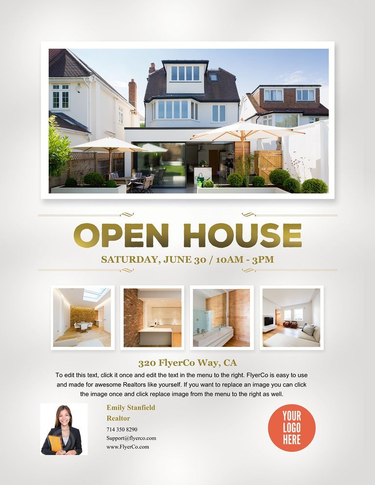 Gradient Collection Open House Flyer | Business | Pinterest | Open ...