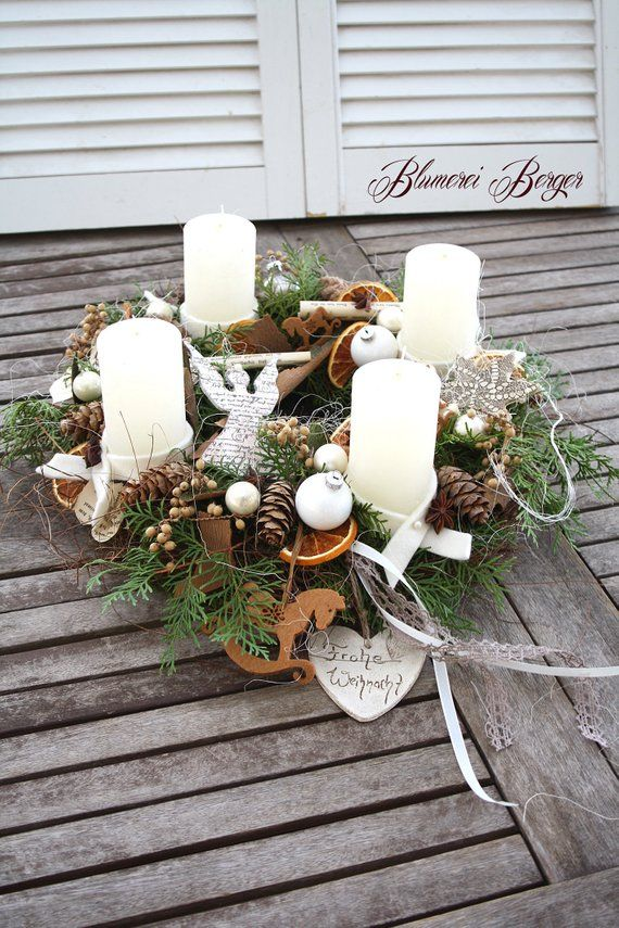 """Photo of Advent wreath """"love of nature"""""""