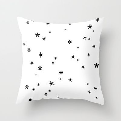 Let it snow Throw Pillow by cafelab