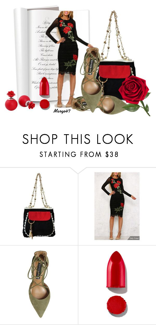 """""""w kwiaty"""" by margo47 ❤ liked on Polyvore featuring Moschino Cheap & Chic, Steve Madden and Rodin"""