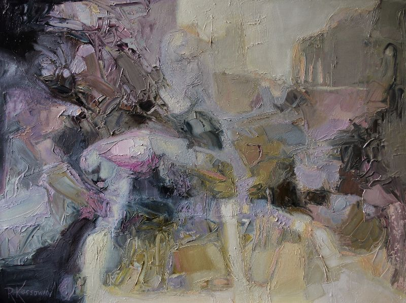 "Unfolding by Rose-Marie Kossowan Oil ~ 40"" x 30"""