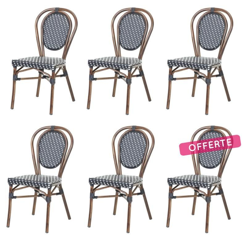 lot de chaises chaise bistrot rotin