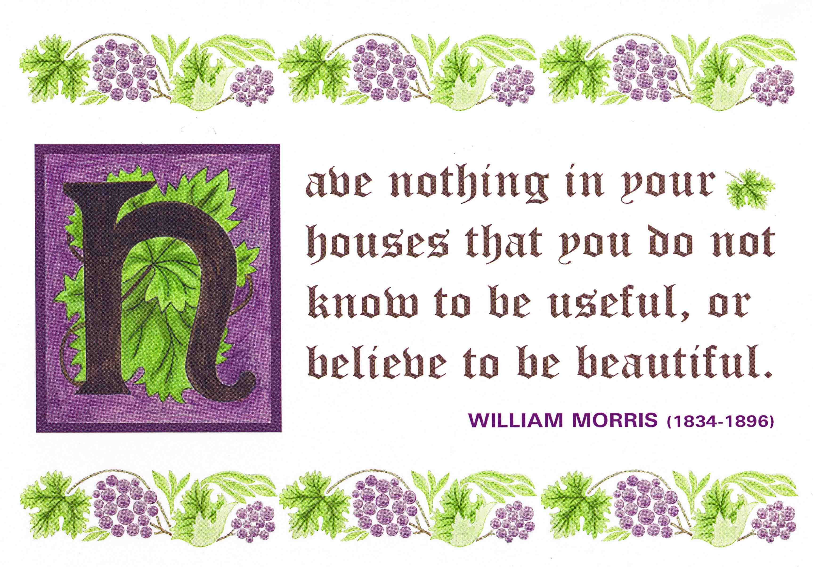 Famous quote by William Morris Wonder quotes, Most