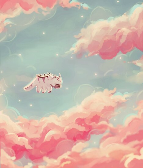I Dream Of Pretty Clouds Taking A Ride On Appa S Back And Looking At The Stars As The Day Turns To Avatar Poster Avatar Picture Avatar The Last Airbender Art