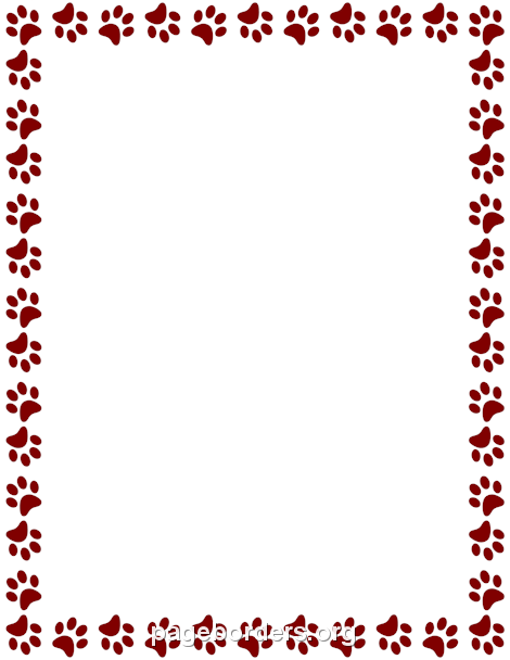 Maroon Paw Print Border Free Printable Stationery Paw Print Borders For Paper Search more hd transparent paw print image on kindpng. maroon paw print border free