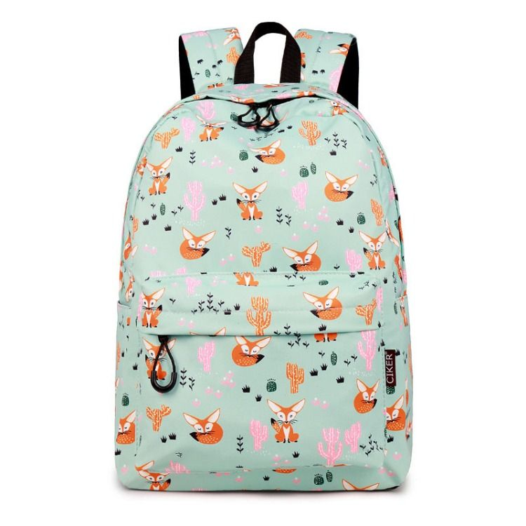 CIKER Waterproof Women Backpack Cute Fox Printing Backpack Female School  Bags Travel Daily Laptop Bagpack Cactus ae76138e4d2a4
