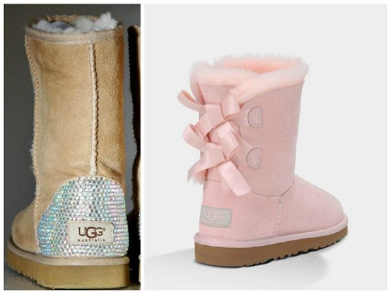 Light Baby Pink Ugg Bailey Bow Boots