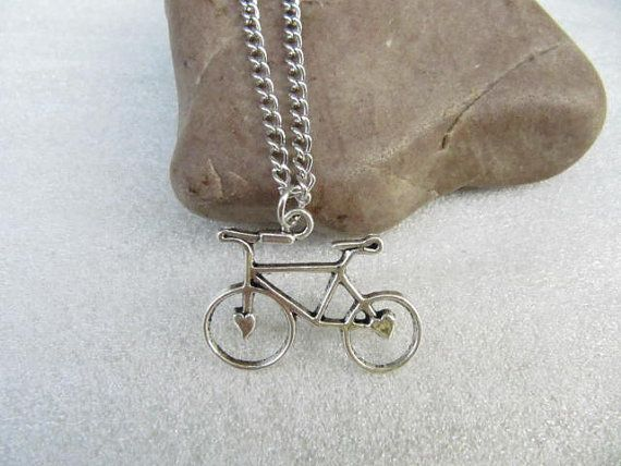 ON SALEsilver bike necklace bicycle pendant by simplejewelrysale, $2.00