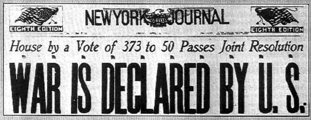 Apr 6 1917 The United States Declares War On Germany The British