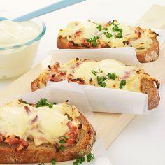 Zwiebel-Speck-Brote #fingerfoodrezepteschnelleinfach