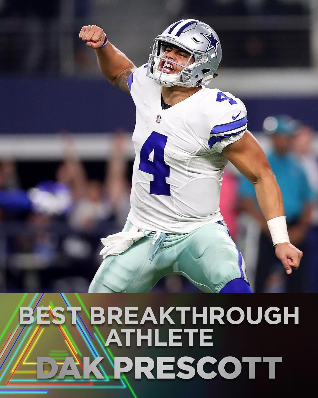 the winner of the 2017 best breakthrough athlete is dallas cowboys