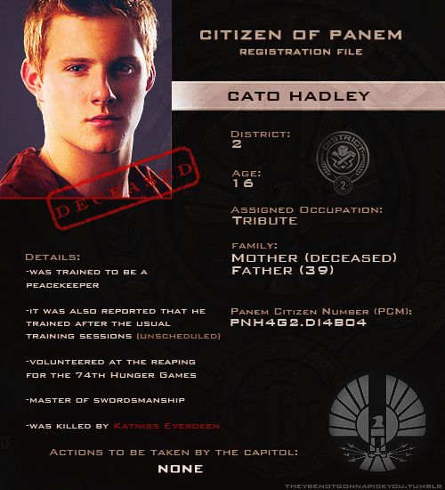 Cato The Hunger Games Wiki Hunger Games Hunger Games Characters Hunger Games Tributes