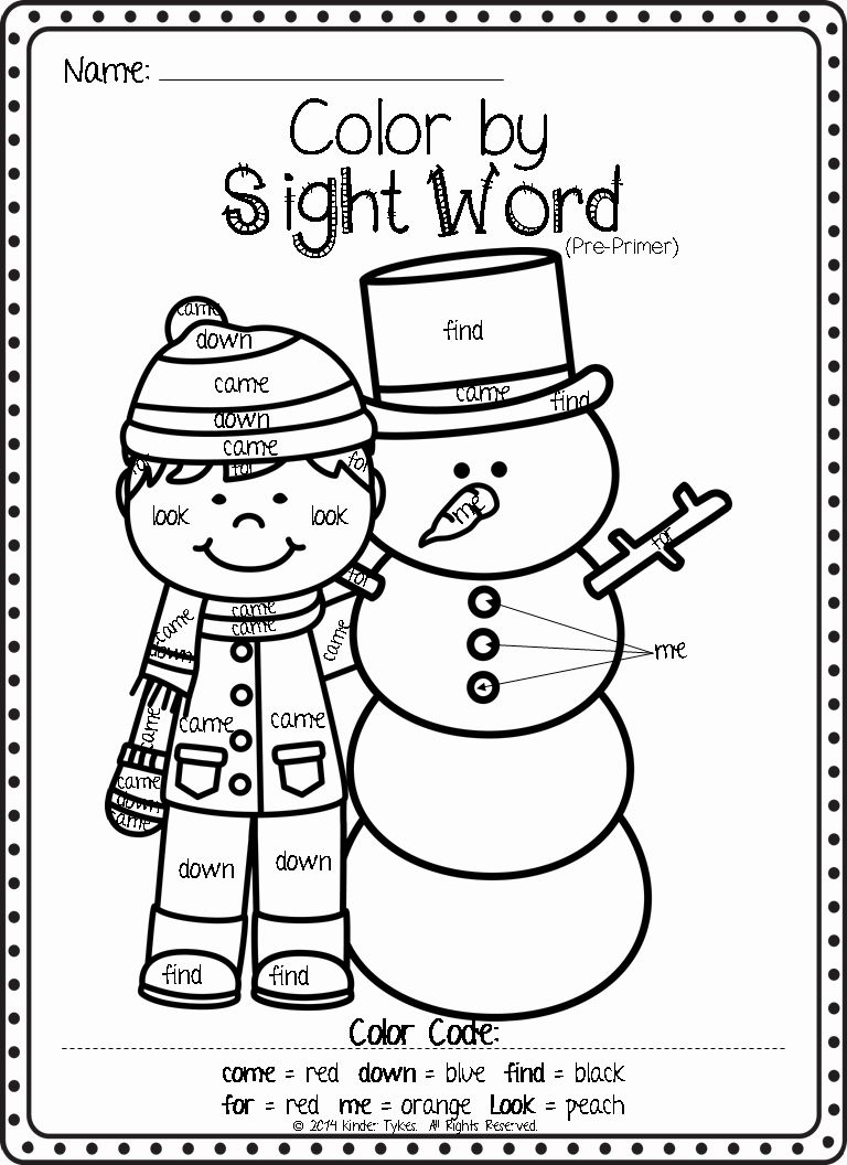 Free Sight Word Christmas Coloring Pages Taken