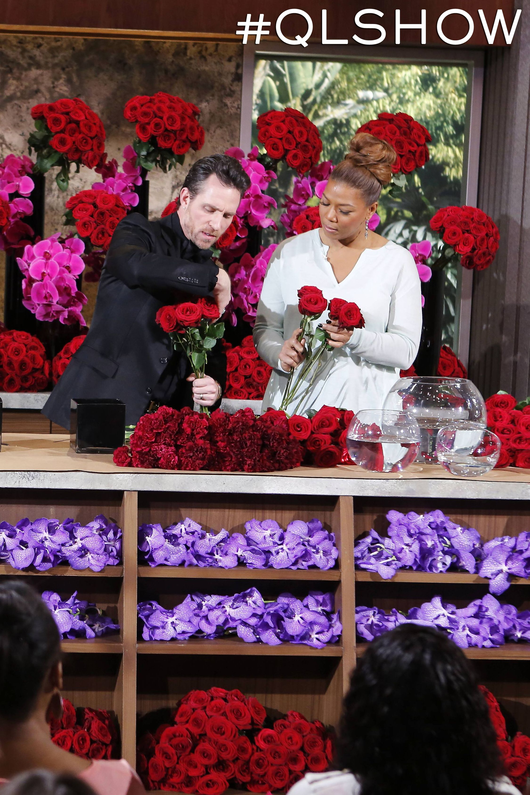 Jeff Leatham shares extra tips on QueenLatifah for up ing brides and ho