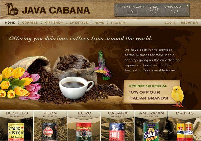 Showcase Of Stunning Coffee Web Design Web Design Photoshop Design Best Web Design