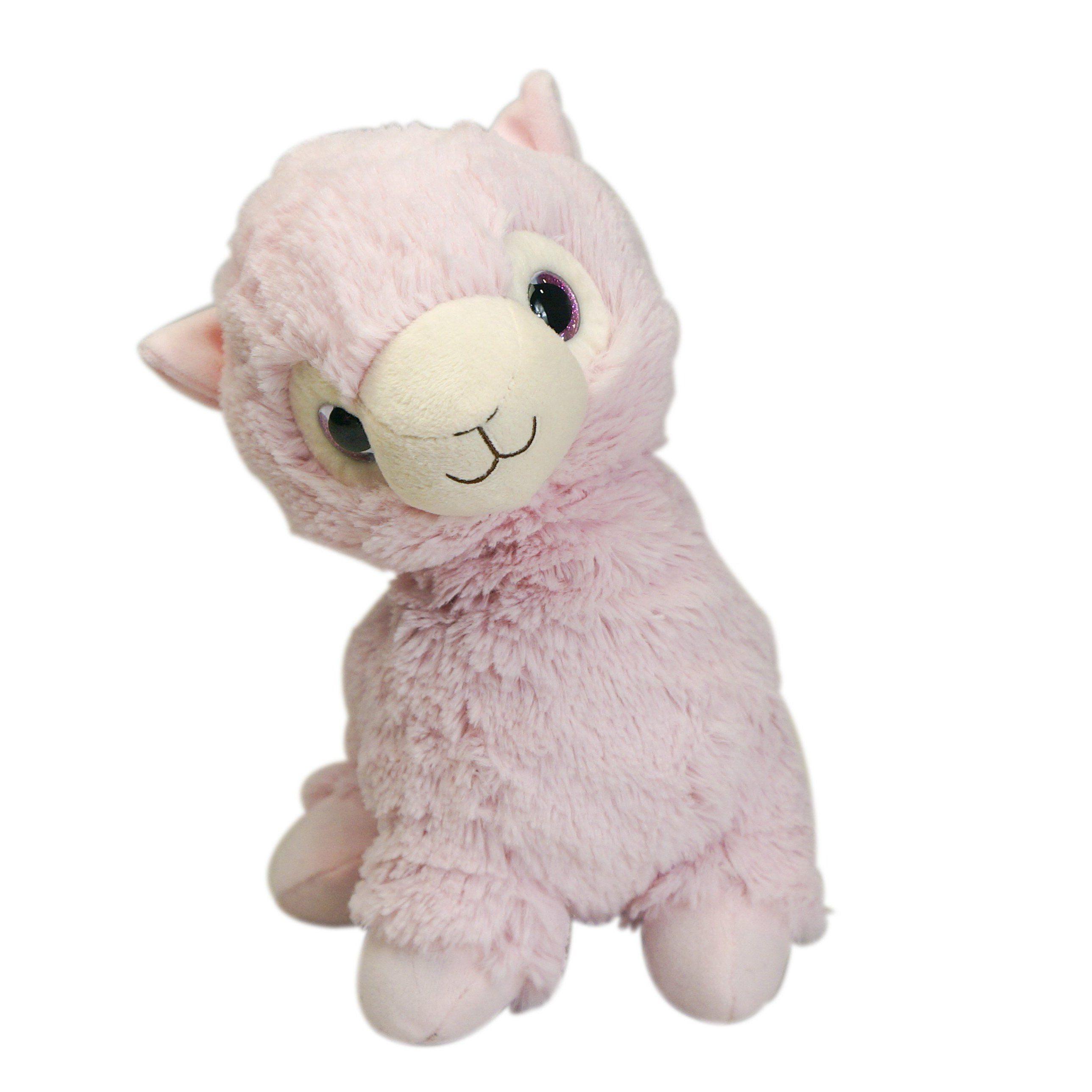 Warmies Cozy Plush Llama (Pink) Llama stuffed animal
