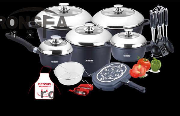 23pcs Set Cookware Set Panela Non Stick Pot Cast Aluminum