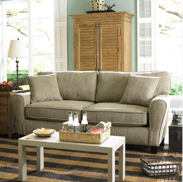 If your home has both a living room and a family room, you may wonder how to use each space. This living room sofa comes in many different color ...