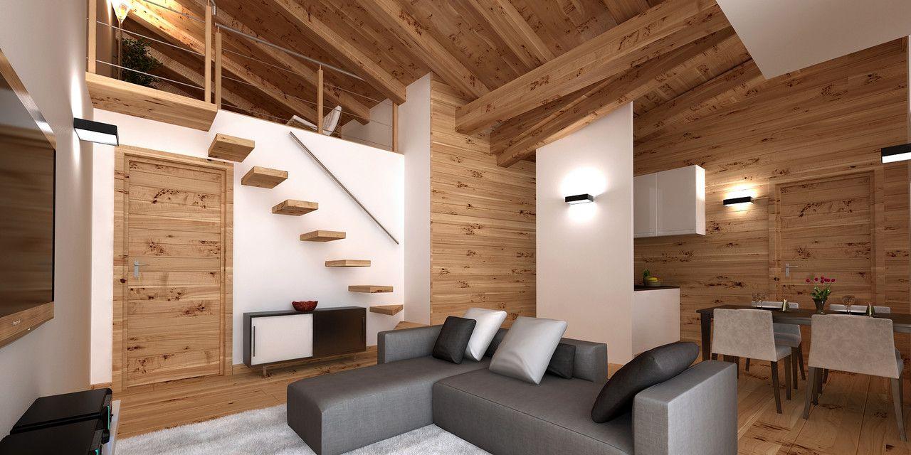 Vendita appartamento in baita di montagna al Melezet (con