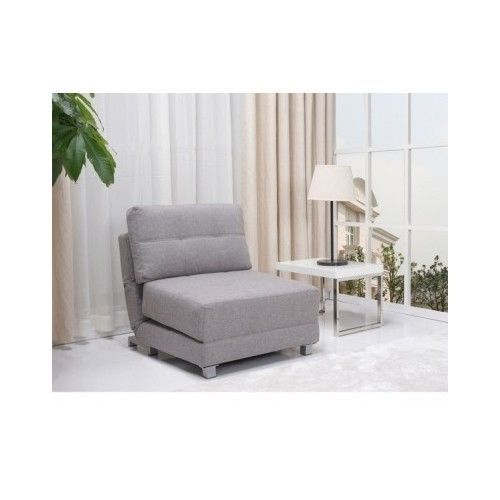 GREY CONVERTIBLE CHAIR BED CHAISE SPACE SAVING FURNITURE LIVING FAMILY DORM ROOM  sc 1 st  Pinterest : convertible chaise bed - Sectionals, Sofas & Couches