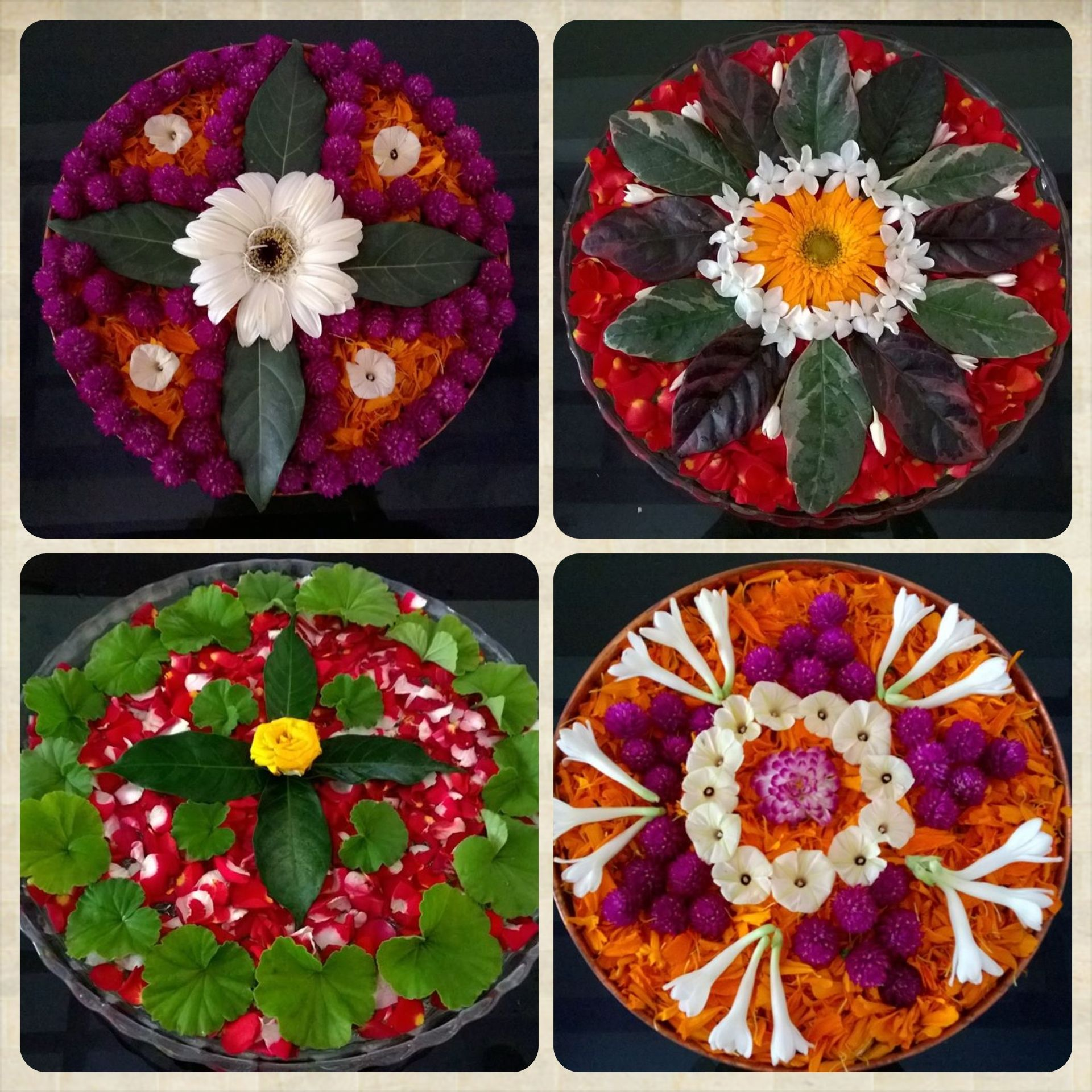 Four Diffe Types Of Flower Arrangement