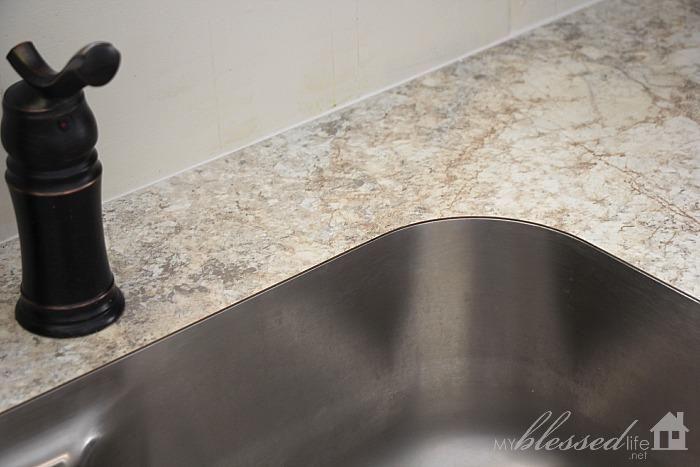Beautiful 3422 Crema Mascarello Laminate Countertop With Undermount Sink  From MyBlessedLife.net