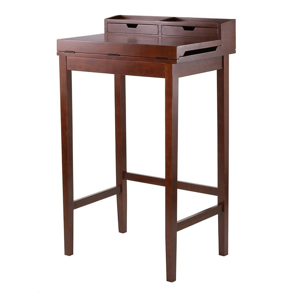 stand up computer desk tall office podium antique writing ergonomic wood lectern