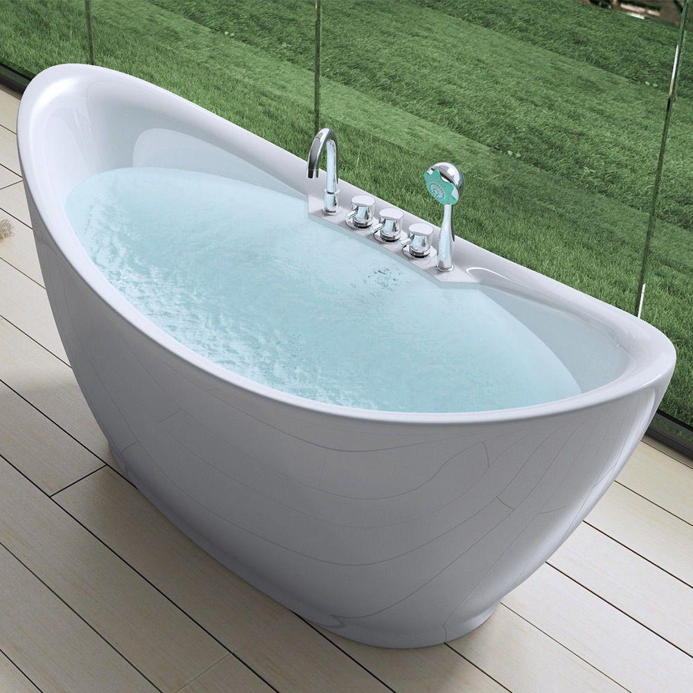 Design Badewanne Freistehend Standbadewanne Vicenza603 Inkl Armatur Rakuten Badewanne Wanne Freistehende Badewanne