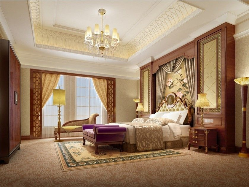 European Style Luxury Interior Home Bedroom Tips Design Ideas With Classic Wood And