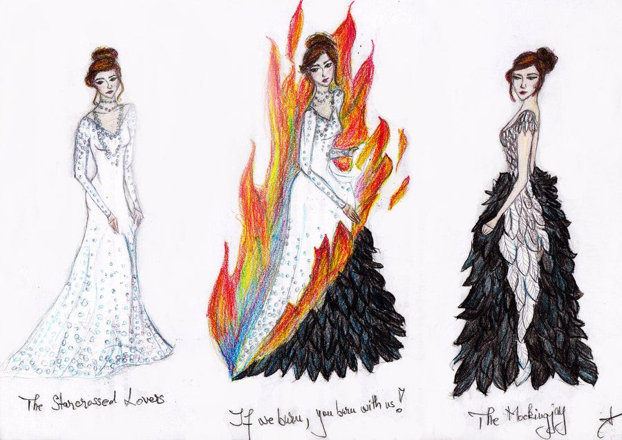 For all those who love the part when Katniss\'s dress turns into a ...