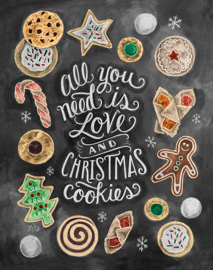 Christmas Baking Quotes : christmas, baking, quotes, Christmas, Cookies, Print, Holiday,, Cookies,, Holidays