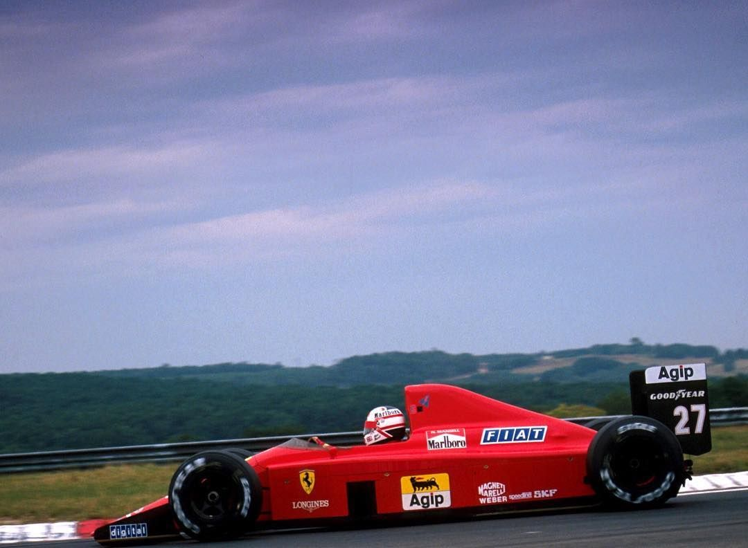 F1 1989: Hungarian Grand Prix Nigel Mansell (Ferrari) 13.08.1989 FERRARI 640 Tipo035 (NA 3.5L-V12)