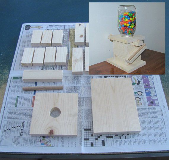 DIY Wood Mason Jar Candy Dispenser Kit   Kids Birthday, Boy Scouts, Girl  Scouts