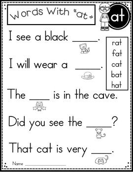45++ Free printable word family worksheets Education