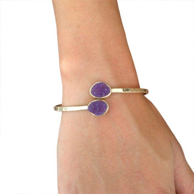 Druzy cuff-Purple