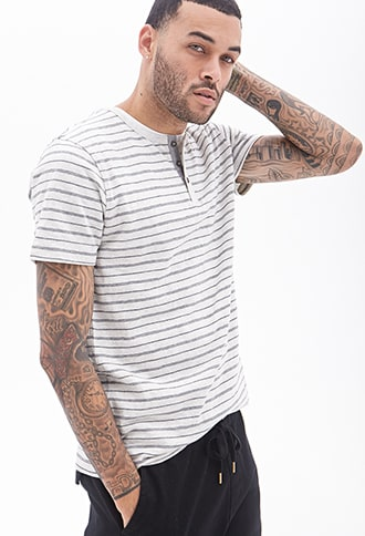Striped Henley Tee Products Henley Tee Mens Tops Men Sweater