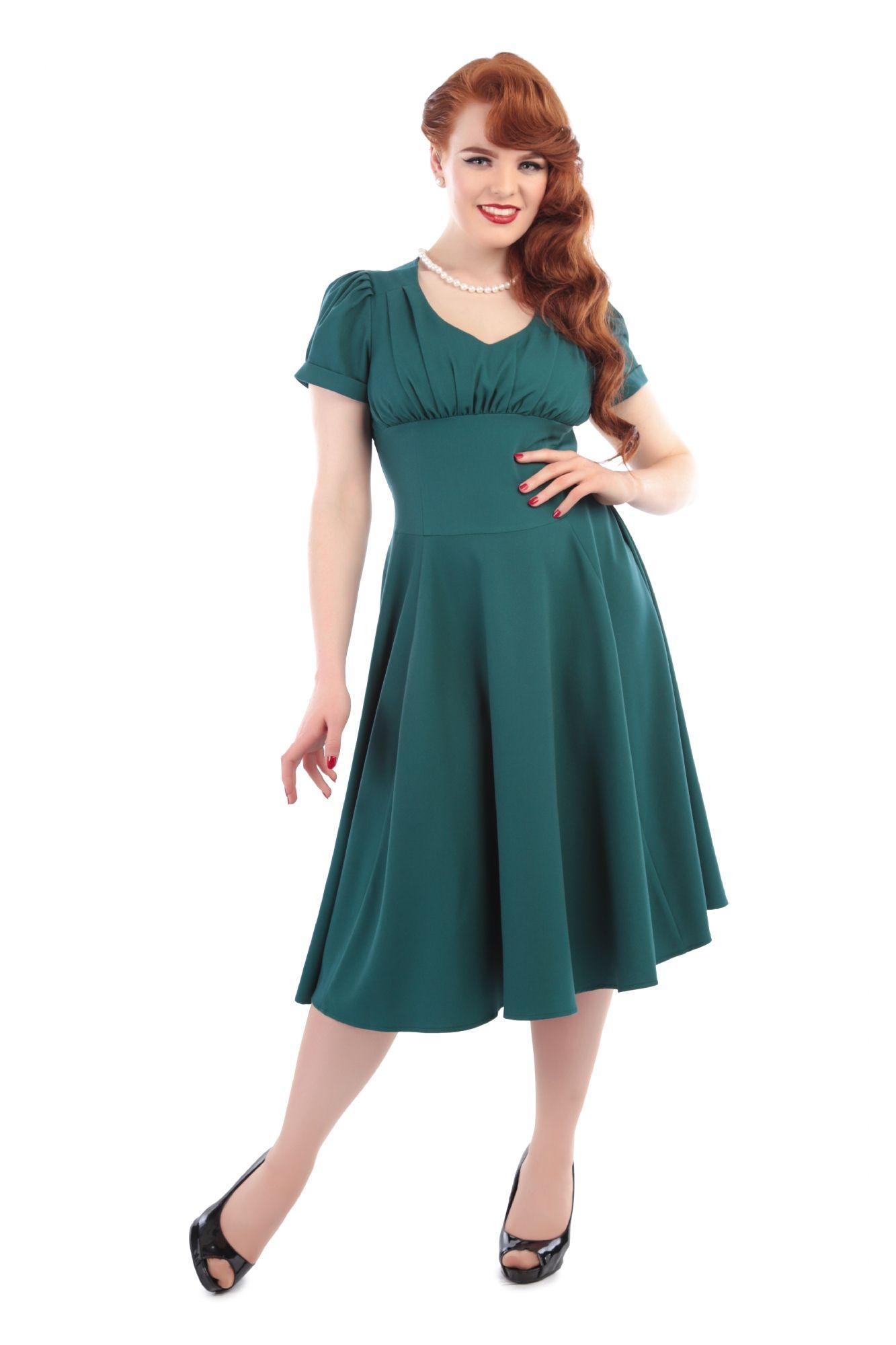 Nadine Plain Vintage Tea Dress 0 | Pin Up Fashion | Pinterest ...