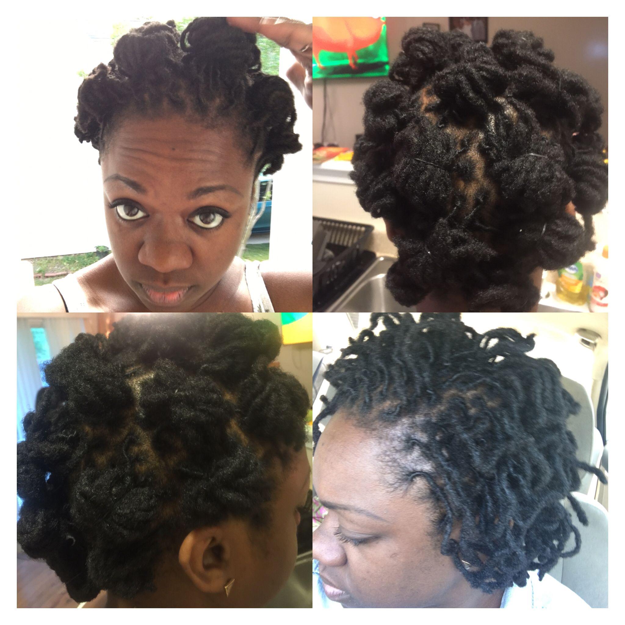 Short Loc Style Loc Knots Retwist Locs Hairstyles Hair Inspiration Natural Hair Styles