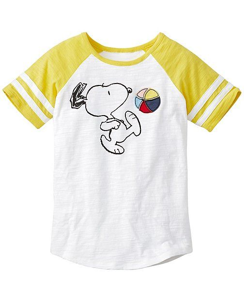 bed547d847 Peanuts Colorblock Art Tee In Slub Jersey by Hanna Andersson ...
