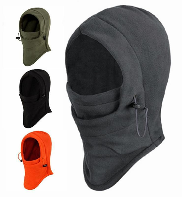 oran Home Crazy Shopping 6 In 1 Thermal Fleece Balaclava Hat Hood Police Swat Ski Bike Wind Stopper Face Mask New Caps Neck Warmer