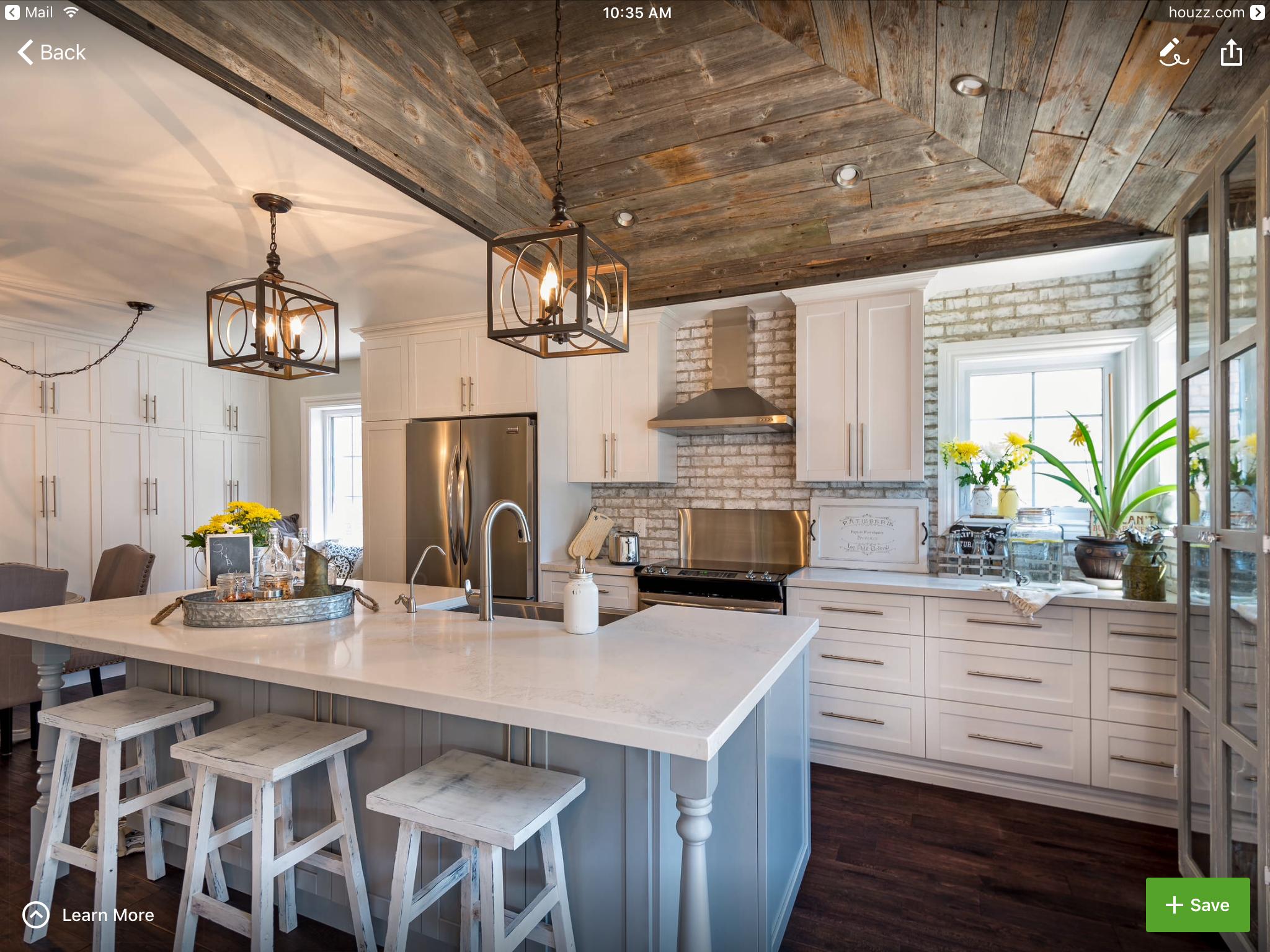 Uneven Kitchen Floor Light Fixtures Hung At Same Height Uneven Ceiling Kitchens