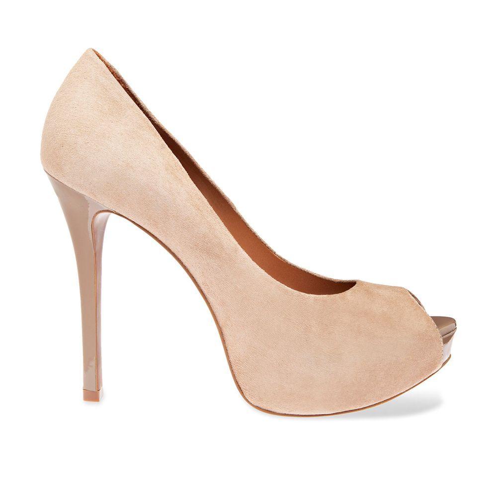 cf7f7c1e6 Arezzo peep toe nude | Shoes in 2019 | Sapatos, Sapatos bege, Saltos ...