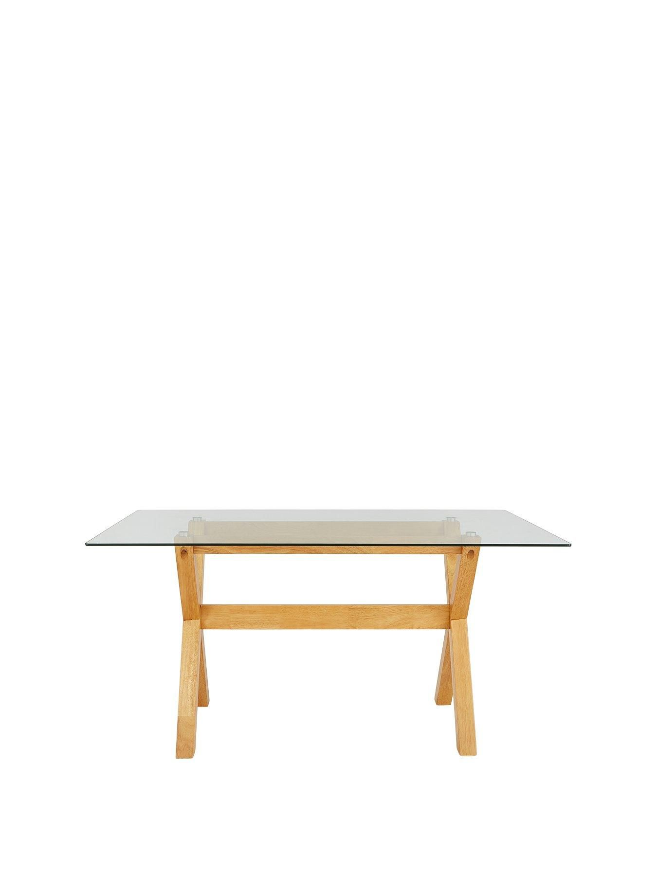Groovy Venla 150 Cm Solid Wood And Glass Dining Table Kitchen Uwap Interior Chair Design Uwaporg