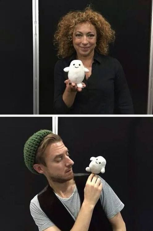 Rory and River with a #crochet adipose #doctorwho #whovian